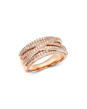 Bloomingdale's - Diamond Overlapping Ring in 14K Rose Gold, 1.0 ct. t.w. - 100% Exclusive
