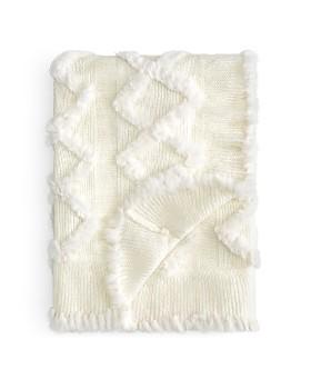 Adrienne Landau - Knit & Rabbit Fur Throw