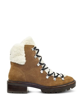 Marc Fisher LTD. - Women's Capelli Suede & Sheep Fur Lace Up Booties
