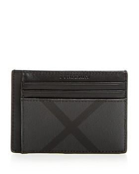Burberry - Chase Smoke Check Money Clip Card Case