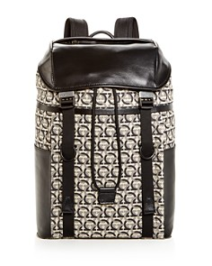 Salvatore Ferragamo - The Gancini Jacquard Backpack