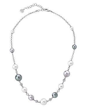 Majorica Mixed Simulated Pearl Necklace, 16