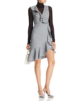 AQUA - Ruffle Plaid Dress - 100% Exclusive