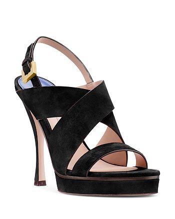677c6f45bd0 Stuart Weitzman Women s Hester Suede Platform High-Heel Sandals ...