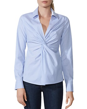 Bailey 44 - Tallula Twist-Front Striped Shirt