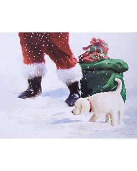 Design Design - Santa with Dog Greeting Cards, Box of 20