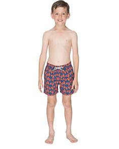 TOM & TEDDY - Boys' Turtle-Print Swim Trunks - Little Kid, Big Kid