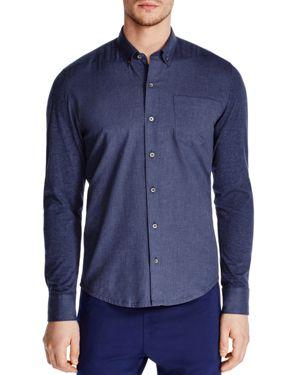 WRK W.R.K. Reworked Slim Fit Button-Down Shirt in Navy Heather