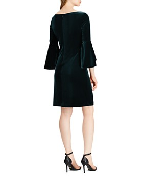 Ralph Lauren - Bell-Sleeve Velvet Dress