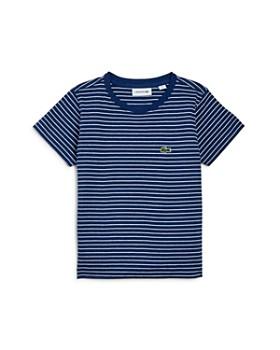 Lacoste - Boy's Striped Tee - Little Kid, Big Kid
