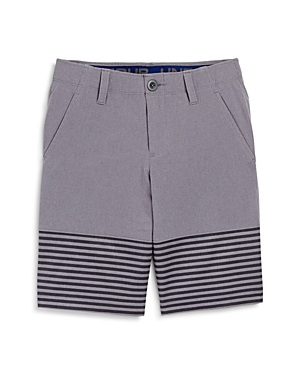 Under Armour Boys' Match Play Striped Shorts - Big Kid