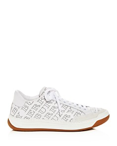Burberry - Women's Timsbury Perforated Leather lace Up Sneakers