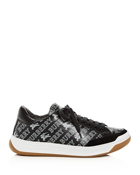 Burberry - Women's Timsbury Logo Print Leather Lace-Up Sneakers