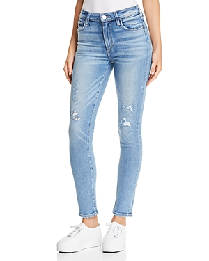 Paige Hoxton Ankle Skinny Jeans in Kayson Distressed