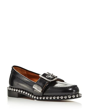 ca2d13e85 Chloé Women's Sawyer Almond Toe Studded Leather Loafers | Bloomingdale's