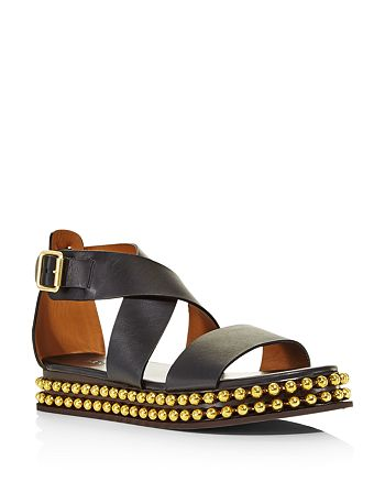 18ac11eefa2a Chlo eacute  - Women s Sawyer Studded Leather Platform Sandals