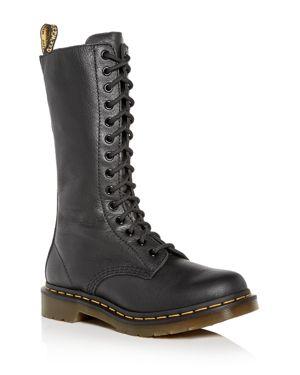 DR. MARTENS Women'S Virginia Combat Boots in Black Virginia