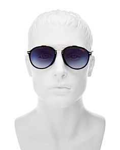 Carrera - Men's Brow Bar Round Sunglasses, 52mm