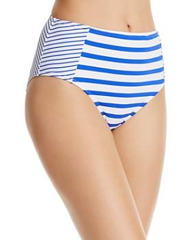 8d21fa021e Tommy Bahama - Beachglass Stripe High Waist Bikini Bottom ...