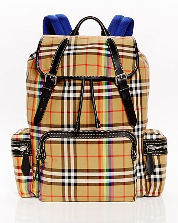 1dc31e6a2b457 Burberry - Rainbow Vintage Check Backpack