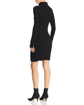 MILLY - Suede-Trimmed Knit Dress