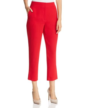 MARLED X Olivia Culpo Cropped Cigarette Pants in Red