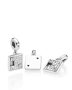 PANDORA - Family Game Sterling Silver Drop Charm