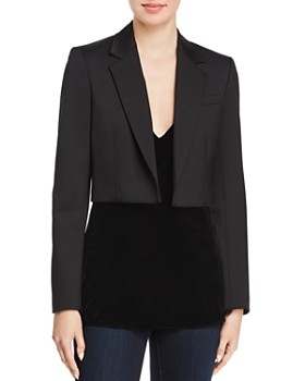 Theory - Cube Cropped Blazer