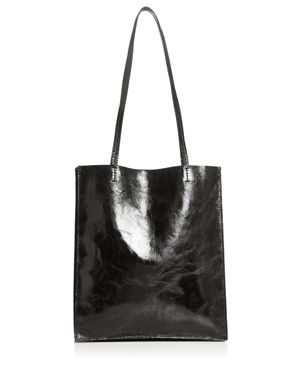 STEVEN ALAN Maddox Medium Leather Tote in Black/Silver