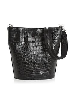 Steven Alan - Rhys Medium Croc-Embossed Leather Hobo