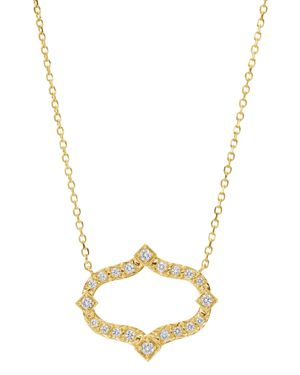 GUMUCHIAN 18K Yellow Gold Secret Garden Diamond Pendant Necklace, 16 in White/Gold