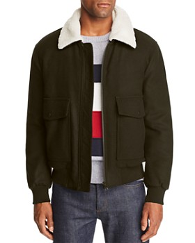 Tommy Hilfiger - Faux-Shearling-Collar Bomber Jacket