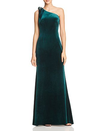 Eliza J - One-Shoulder Velvet Gown