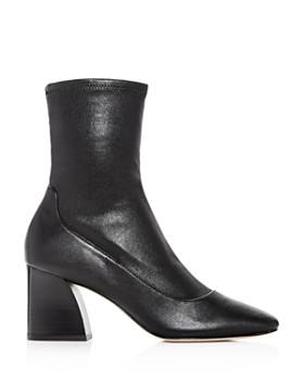 Donald Pliner - Women's Gerrie Leather High Block-Heel Booties