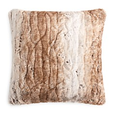 "Hudson Park Collection - Textured Faux Fur Decorative Pillow, 20"" x 20"" - 100% Exclusive"