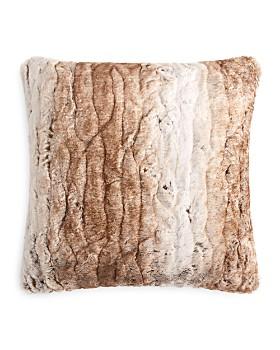 """Hudson Park Collection - Textured Faux Fur Decorative Pillow, 20"""" x 20"""" - 100% Exclusive"""