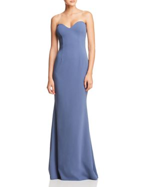 KATIE MAY Myra Strapless Sweetheart Gown - 100% Exclusive in Steel Blue