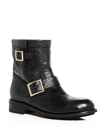 d7c60d81a525 Jimmy Choo - Women s Youth Leather Moto Boots