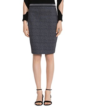 Bailey 44 - M16 Brushed Herringbone Pencil Skirt