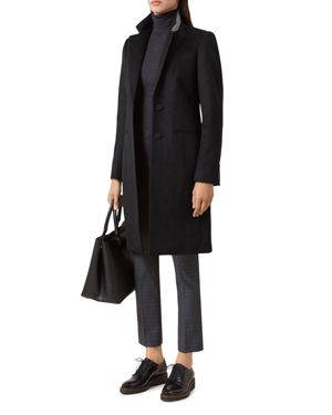 Tilda Wool Coat, Black