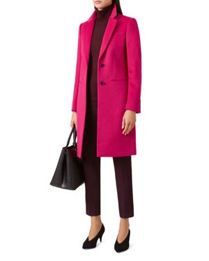 Tilda Wool Coat, Hot Pink