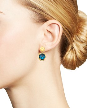 Marco Bicego - 18K Yellow Gold Jaipur Color London Blue Topaz & Diamond Small Drop Earrings