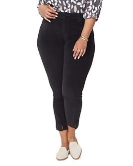 NYDJ Plus - Ami Velvet Twist Hem Jeans in Black
