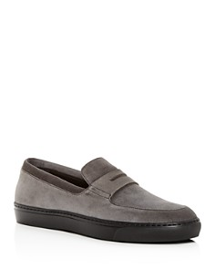 Harrys of London - Men's Jimmy Sport Noble Suede Penny Loafers