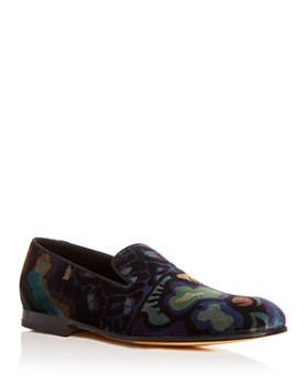 Paul Smith - Men's Rudyard Floral Velvet Smoking Slippers