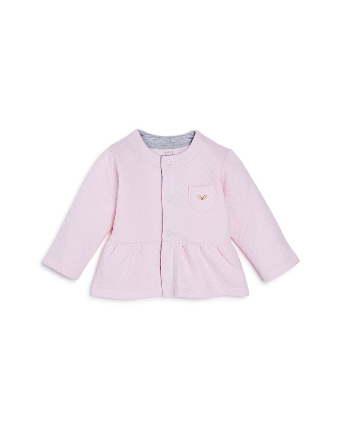 Livly - Girls' Quilted Peplum Cardigan - Baby