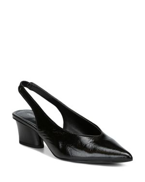 Donald Pliner Women's Gema Pointed Toe Patent Leather Mid-Heel Pumps