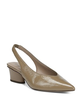 Donald Pliner - Women's Gema Pointed Toe Patent Leather Mid-Heel Pumps