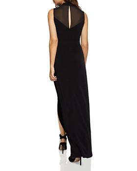 BCBGeneration - Chiffon-Inset Slit Maxi Dress