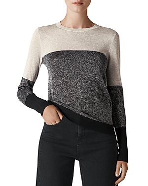 Whistles COLOR-BLOCK SPARKLE SWEATER